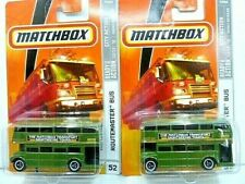 Matchbox 2009 City Action Routemaster Bus Diecast Car Lot of 2: New In Package
