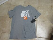 """Nike Mens T Shirt (Athletic Fit) Large Nwt $25 Gray W/""""Just Do It"""" Very Cool!"""