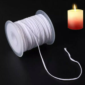 1 Roll 200 Feet 61M White Candle Wick Cotton Candle Woven Wick for CandleY_yk