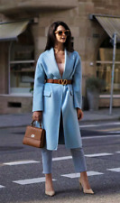BNWT Zara Blue Green Handmade Oversized Wool Blend  Coat - Size S