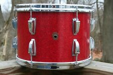 """Ludwig WFL 9"""" X 13"""" Ride Tom Red Sparkle 1950's Good Shape"""