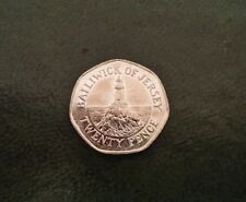 Rare Collectable Bailiwick of Jersey 20p coin in mint condition.