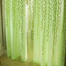 Tulle Curtains Living Room Blinds Bedroom Willow Leaf Decorative Curtain Voile