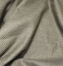 Chocolate Brown Chevron - WOOL Suiting Fabric 1/4 yard remnant