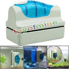 Magnetic Aquarium Fish Tank Glass Algae Scraper Cleaner Floating Clean Brush Blu
