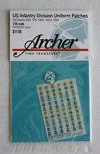 Archer 1/35 US 2nd Cavalry & 65.,77.,100.,102.,103. ID Uniform Patches FG35034