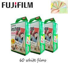 60 Fujifilm Fuji Instax Instant Mini 8 Film White fr 7 7s 8 10 20 25 50s 50i SP1