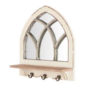 Home Decorators Collection Arched Windowpane Framed Antiqued Mirror