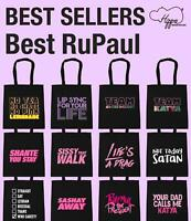 Best RuPaul Tote Shopping Gym Beach Bag Sassy TV LGBT Equality Gift Show Pride