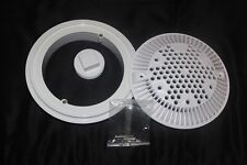 Hayward pool Dual Suction Flow Drain Cover and Frame - White