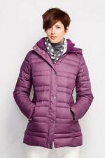 LANDS' END S(6-8) TALL Fuchsia Plum Heather 600 Fill Down Parka or Coat NWT $199