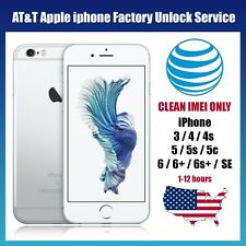 Premium FACTORY UNLOCK SERVICE AT&T CODE ATT for IPhone 3 4 5 5S 6 6s SE 7 7+