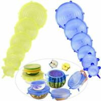 Silicone Food Lid, 12 Pcs Stretch Reusable Lids Expandable Silicone Storage Y4X9