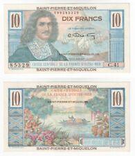 More details for saint pierre and miquelon 10 francs banknote (1950-60) p.23 - unc.