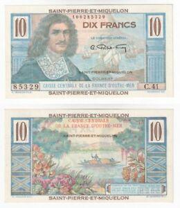 Saint Pierre And Miquelon 10 Francs Banknote (1950-60) P.23 - UNC.