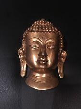 "5"" BRASS LORD BUDDHA FACE WALL HANGING DECOR HANDMADE"