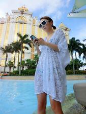 Women's Sexy Lace Floral Bikini Cover Up Swimwear Summer Beach Dress Sun dress