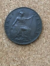More details for edward vii half penny low tide very rare darkly toned