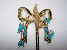 MERMAIDS AND FAUX PEARL THEMED JEWELRY RACK BRASS UP-CYCLED STUNNING BEAUTY