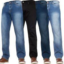 Mens Stretch Jeans Casual Work Straight Leg Denim Regular Big Tall All Waists