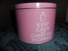 "NEW HOME ESSENTIALS COFFEE/TEA MUG ""KEEP CALM AND CARRY ON SHOPPING"" NEW IN TIN"
