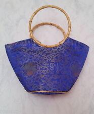 Sac à main pour Femmes Asie Style Aspect Tissu en soie 35 cm 2 bambusholzhenkel