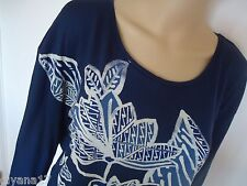 New Lucky Brand Top, poolover, Size L, Navy, cotton