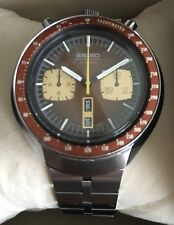 SEIKO Bullhead Chronograph 6138-0049 Stainless Steel Mens Watch & Box!!!