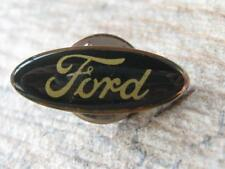 Ford Motor Co Lapel Pin - Black with Gold Script Writing A416
