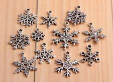 wholesale lots 11Pcs Tibetan Silver Snowflake Charms(Lead-free)