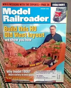 Model Railroader Magazine January 2002 N HO O Scale