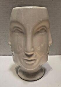 White Ceramic Multi-Face  Planter Vase