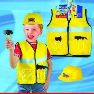 Kids Construction Worker Cosplay Costume
