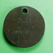 More details for 1797 george iii cartwheel penny engraved with bar scene love token sno61497