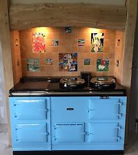 Aga Cooker - Fully Refurbished Four Oven 13 amp Aga in Duck Egg with Chrome Lids