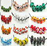 5X Faceted Crystal Glass Beads Big Hole Spacer Murano Lampwork European Bracelet