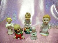 *RARE LOT 5 VTG Japan Lefton Josef Napco Christmas Angels Extravaganza Figurines