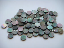"100pcs+5pcs Free 6.35mm/1/4"" Black Mother of Pearl Dots Black with Iridescence"