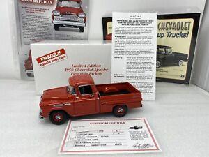 1/24 Danbury Mint 1958 Chevrolet Apache Pickup Limited Cardinal Red