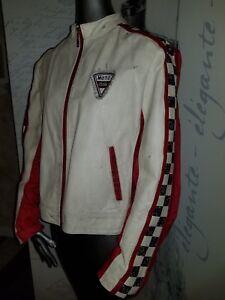 Rare Vintage Wilsons Leather Maxima REBEL Moto Club Racing Jacket Sz Large  EUC