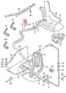 Genuine AUDI A4 Avant 8D 1 Set Fuel Pipes 8D0201544DL