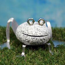 Frosch aus Granit und Edelstahl - Neu