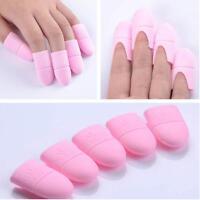 10pcs UV Gel Polish Remover Wraps Silicone Soak Off Cap Clip Nail Art Tools Shan