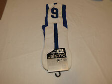 Player ID by TCK PCN MED # 9 TWI 1 sock blue white vollyball basketball soccer