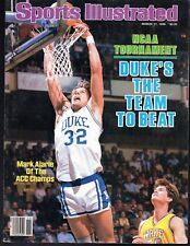 Sports Illustrated 1986 Duke Blue Devils ACC Champs Mark Alarie Excellent NoLbl.