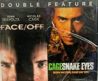 Faceoff / Snake Eyes DVD Double Feature New Factory Sealed Nicolas Cage 2017