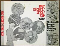 1982 Escort Lynx and EXP LN7 Foldout Wiring Diagrams 82 Ford Mercury Electrical