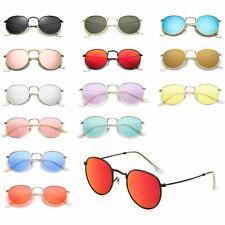 Sonnenbrille Hippie Retro Nickelbrille Damen Herren Vintage Brille Verspiegelt
