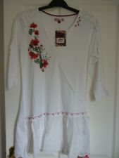 Joe Browns Lovely Embroidered White Hotchpotch Tunic UK 12 EUR 38-40 US 8