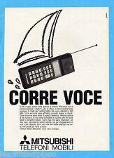 QUATTROR990-PUBBLICITA'/ADVERTISING-1990- MITSUBISHI - TELEFONI MOBILI
